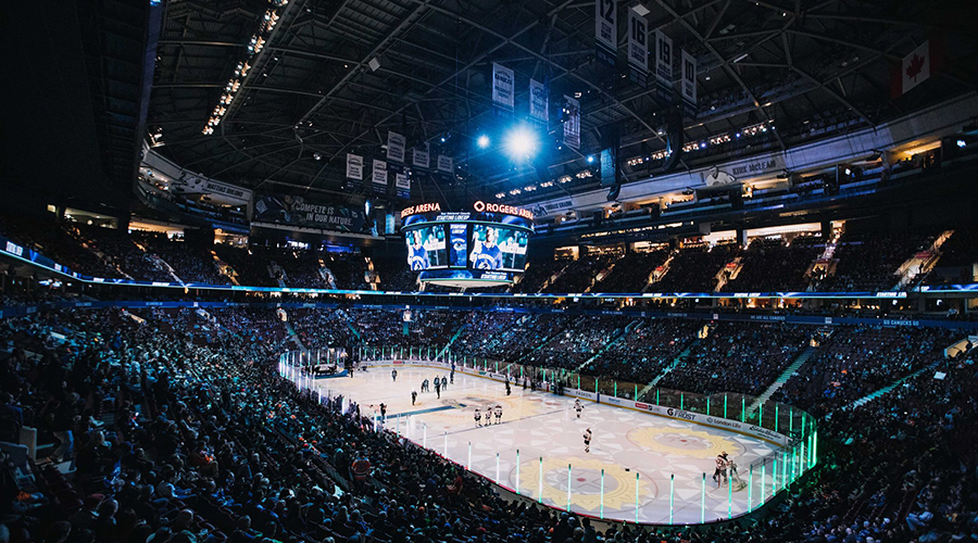 Vancouver Canucks ar Rogers Arena