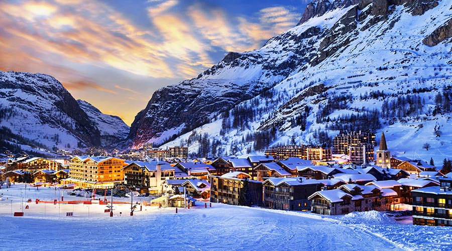 Christmas skiing in Val d'Isere
