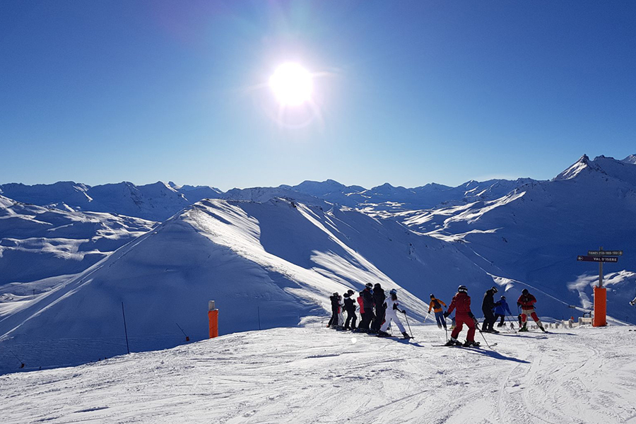 Bluebird day in Val d'Isere