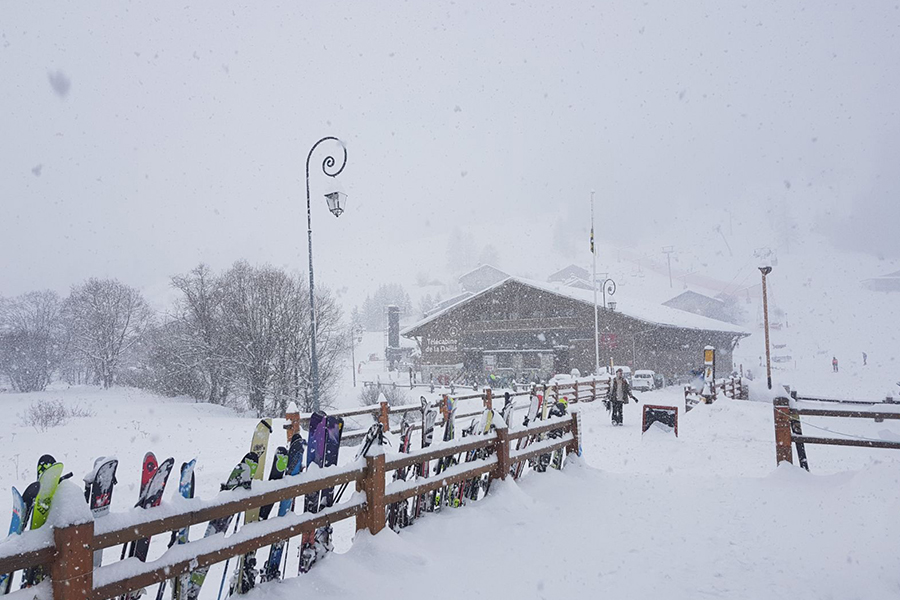 Snowing in Val d'Isere