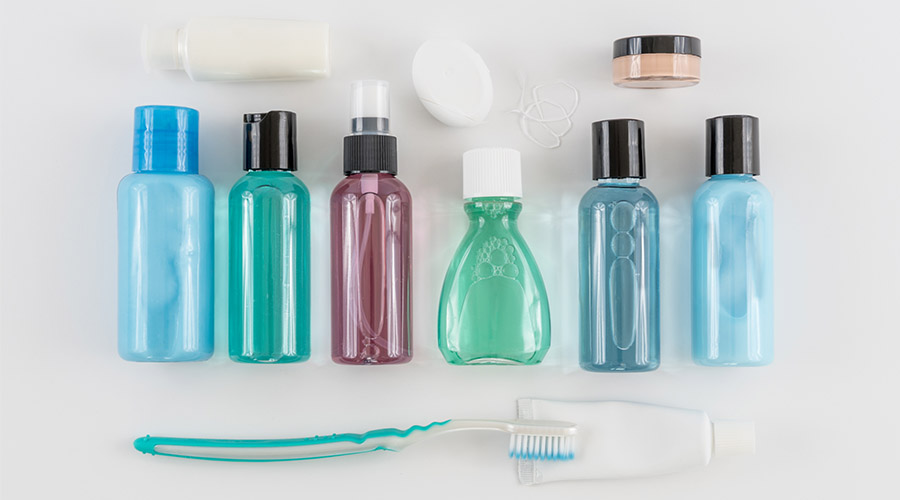 Toiletries packing tips