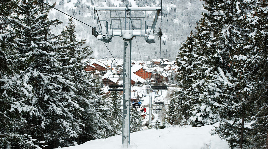 Meribel chairlift
